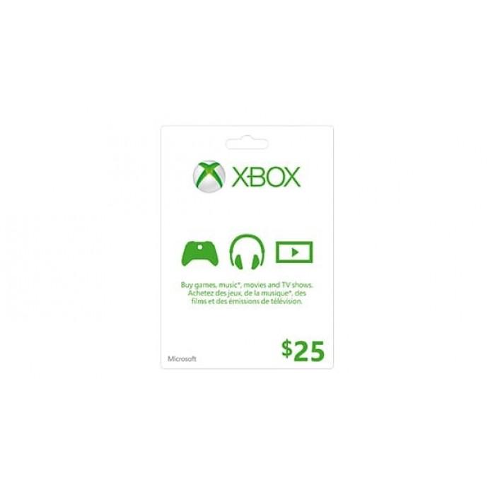 Xbox Live Card $25