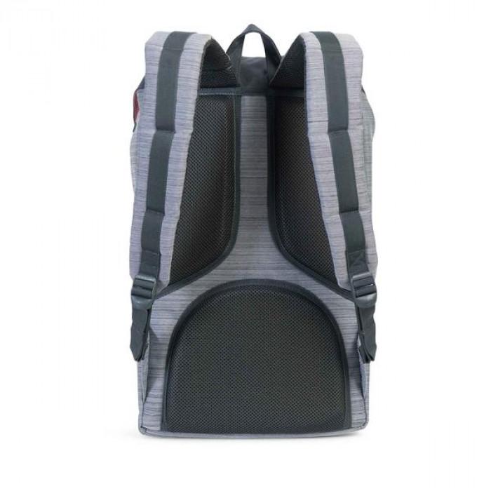 Herschel Supply Co. حقيبة ظهر رصاصية مع حزام جلدي  من
