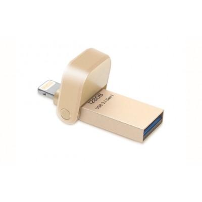 AI920 2in1 موصل فائق السرعة MFI مصرح من USB 3.0 فلاش درايف - 64GB/128GB
