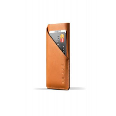 بني / أسود - Mujjo من iPhone 6 (s) محفظة جيب جلدية لل