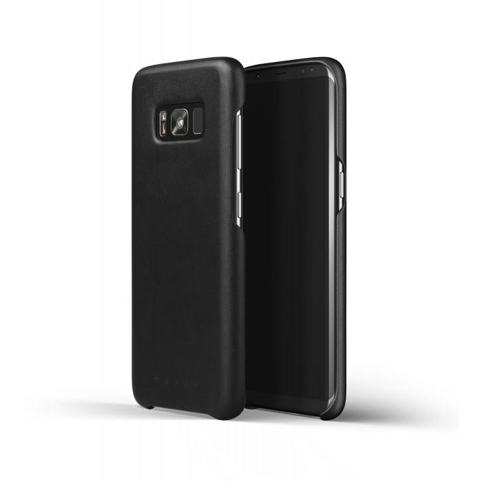 غلاف جلدي لسامسونج جالكسي S8 أسود