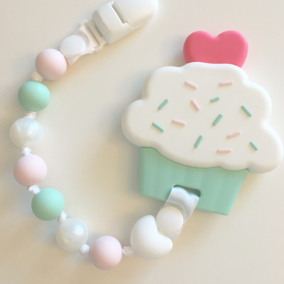 Cupcake and Pacifier Clip Teether Set - Itybity