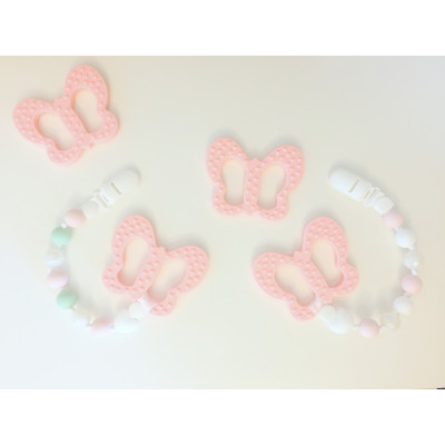 Butterfly Teether and Pacifier Clip Set - Itybity