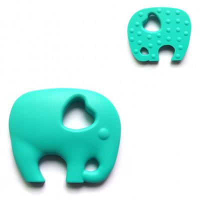 Turquoise Elephant Teether - Itybity