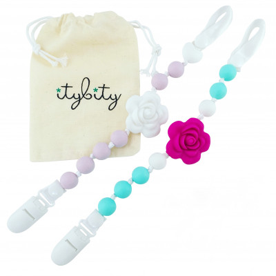 Lila Rose Pacifier Clips - Itybity