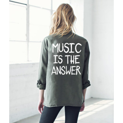من جاك فانك  Music Is The Answer Army Jacket