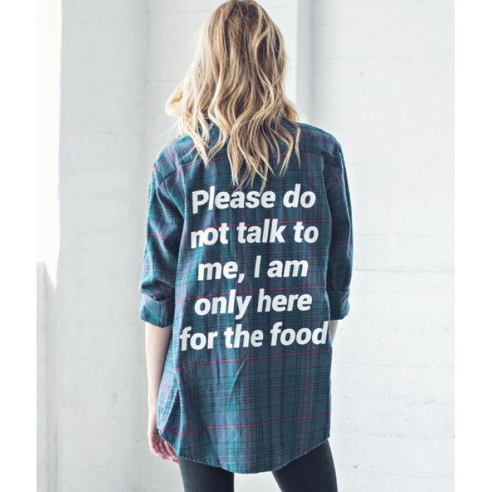 من جاك فانك  Do Not Talk Flannel Shirt