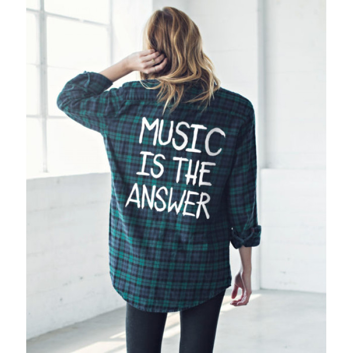 من جاك فانك  Music Is The Answer Flannel Shirt