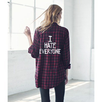من جاك فانك  I Hate Everyone Flannel Shirt