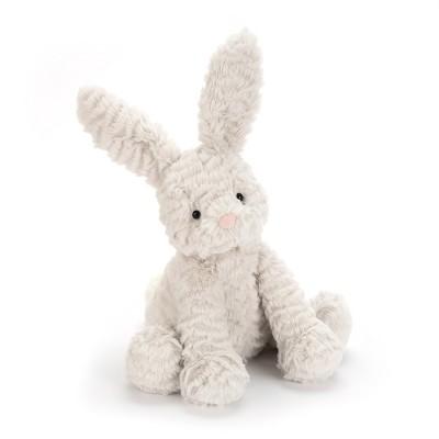 دمية أرنب باللون رصاصيأرنب سكري متوسط الحجم