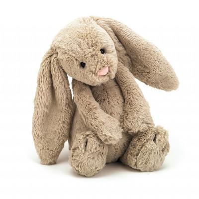 دمية أرنب باللون البيج