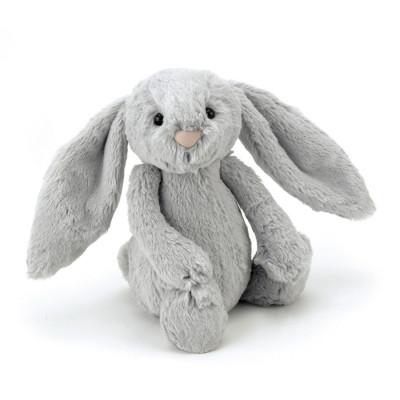 دمية أرنب فضي متوسط الحجم - فضي