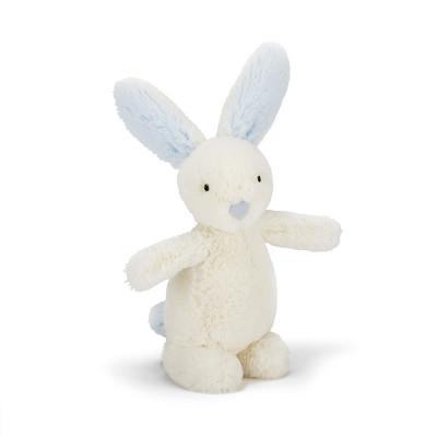 دمية أرنب صغير باللون الأزرق