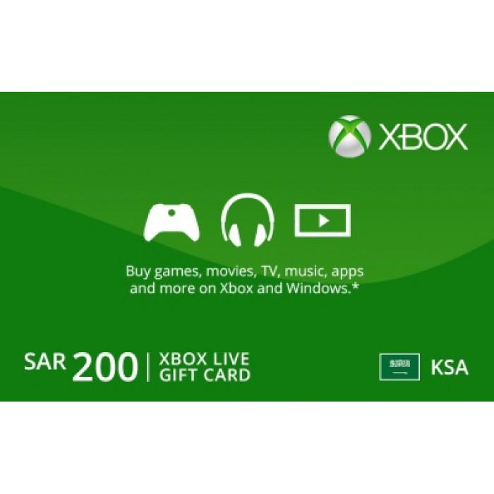 بطاقات Xbox Live بقيمة 200 ريال - تسليم عبر البريد الإلكتروني
