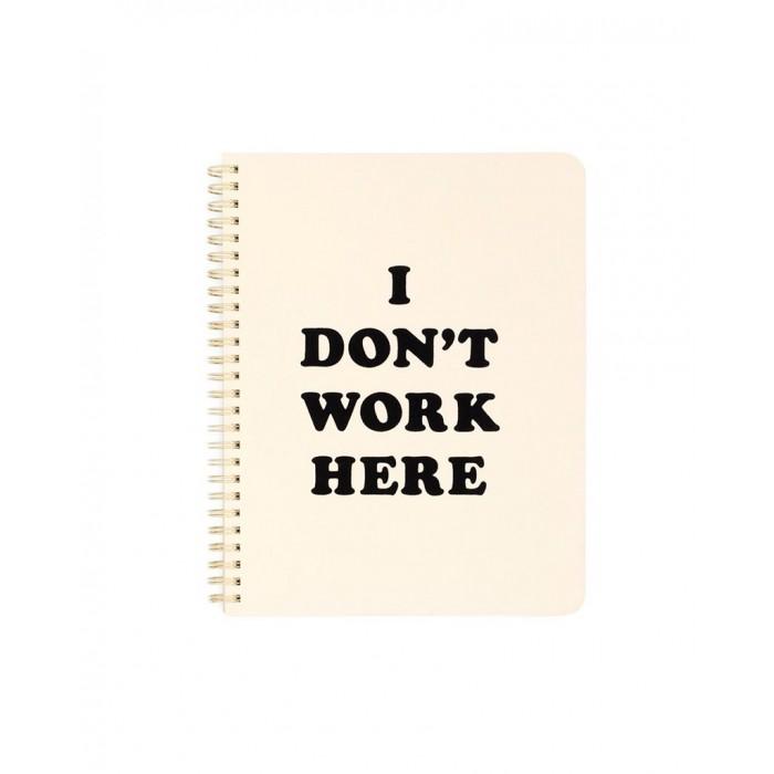 "دفتر تدوين ملاحظات صغير من بان.دو - ""I Don't Work Here"""