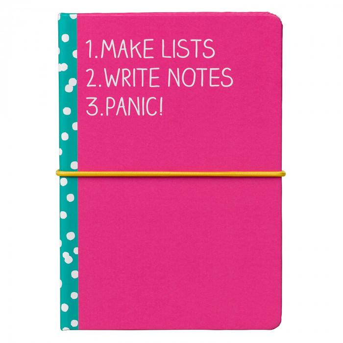 "دفتر مزود بالملاحظات اللاصقة من هاپي چاكسون - ""Make Lists"""