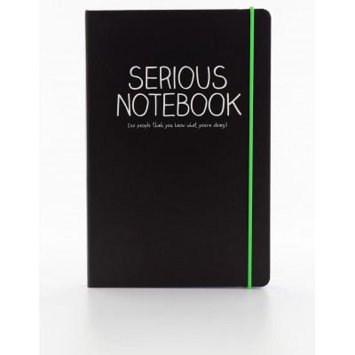 "دفتر A5 من هاپي چاكسون - ""Serious"""