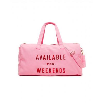 "حقيبة للسفر من بان.دو - ""Available For Weekends"" - وردي"