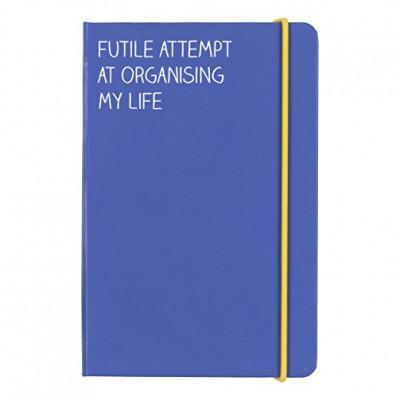 """دفتر A6 من هاپي چاكسون - """"Futile Attempt"""" - أزرق"""