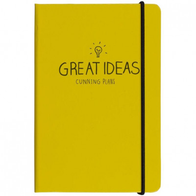 "دفتر A6 من هاپي چاكسون - ""Great Ideas"" - أصفر"