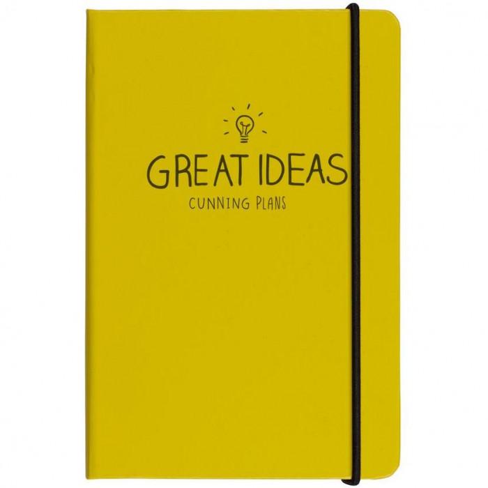"دفتر A6 من هاپي چاكسون - ""Great Ideas"" - أصفر"