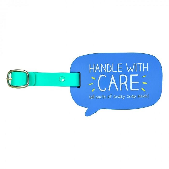 """بطاقة تعريف أمتعة السفر """"Handle With Care"""" من هابي جاكسون"""
