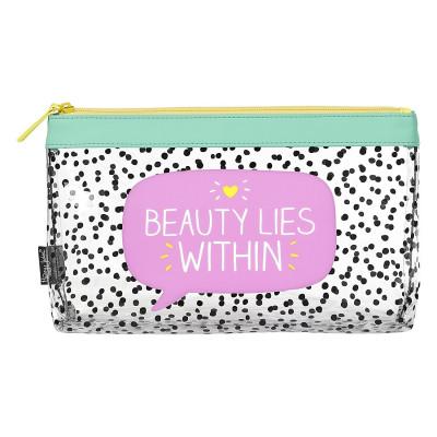 """حقيبة مستحضرات النظافة الشخصية من هابي جاكسون - """"Beauty Lies Within"""""""