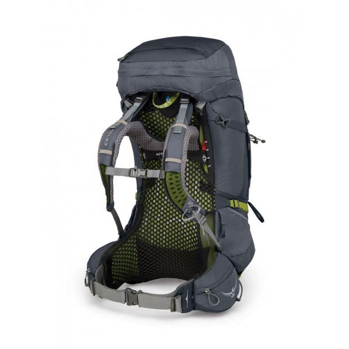 حقيبة الظهر أتموس إيه جي  لتر65 مزوّدة بغطاء ضد الأمطار من أوسبري - الرمادي(متوسط)