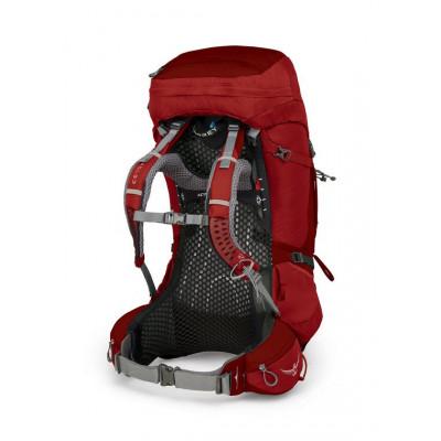 حقيبة الظهر أتموس إيه جي  لتر65 مزوّدة بغطاء ضد الأمطار من أوسبري - الأحمر(صغير)