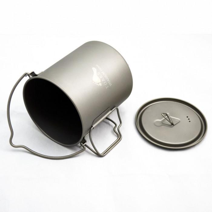 وعاء تيتانيوم بسعة 750 ملل مع مقبض من توكس