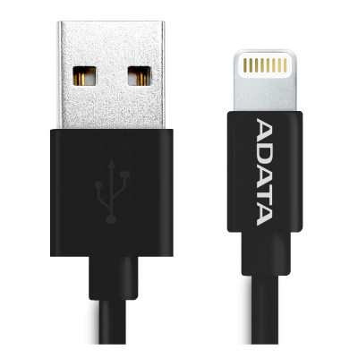 ADATA Sync & Charge Lightning Cable Black 1 Meter