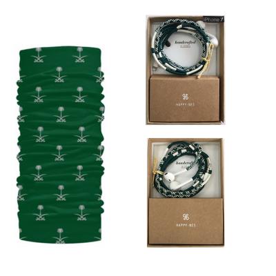 (iPhone 4/5/6) غطاء الرقبة/غطاء الرأس - الإصدار السعودي + سماعات آيفون  الإصدار السعودي من هابي-نس