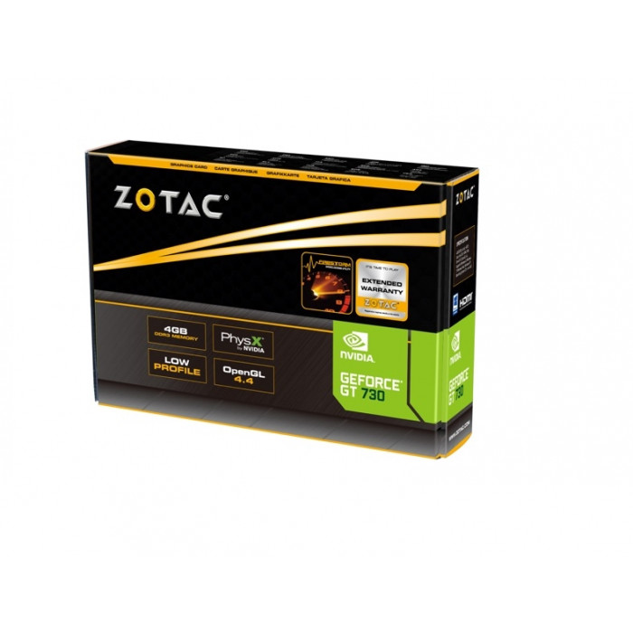 Graphics Card GeForce GT730 4GB Zone E from Zotac