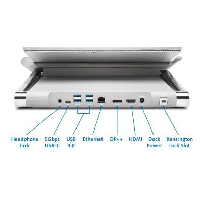 Kensington SD7000 منصة حمل وقاعدة لعبور البيانات مخصصة لسيرفيس برو