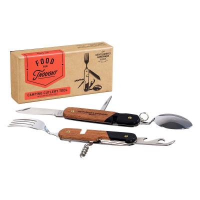 أدوات مائدة بمقابض خشبية؛ للتخييم من جنتلمنز هاردوير