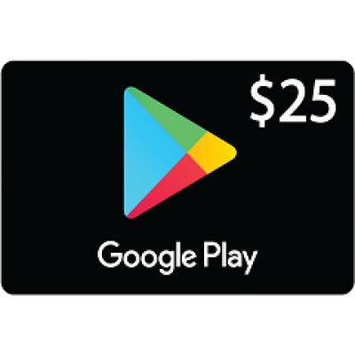 بطاقة قوقل بلاي بقيمة 25$ متوافقة مع المتجر الأمريكي (تسليم الكود عبر البريد الإلكتروني) السعر شامل لضريبة القيمة المضافة