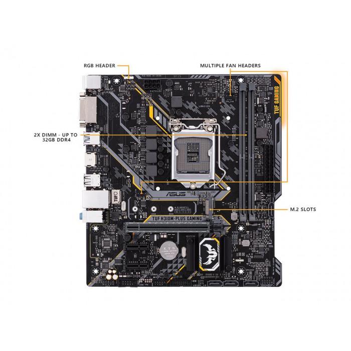 لألعاب الڤيديو ASUS TUF H310-Plus LGA1151 اللوحة الأم