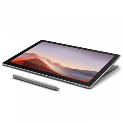 Microsoft Surface Pro 7 Tablet - 12.3 Inch, 10th Gen Intel Core i5, 8 GB Memory, 256 GB SSD - بلاتنيوم