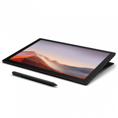 Microsoft Surface Pro 7 Tablet - 12.3 Inch, 10th Gen Intel Core i7, 16 GB Memory, 512 GB SSD, أسود