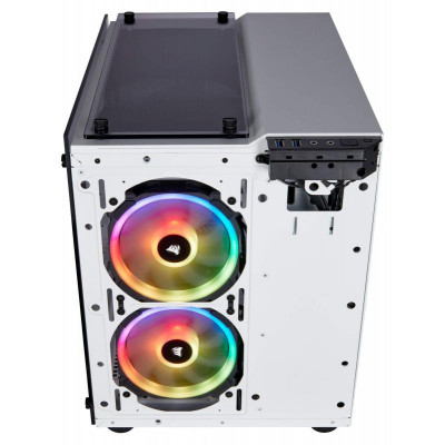 من كورسير - أبيض / أسود Crystal 280X RGB Micro-ATX كيس