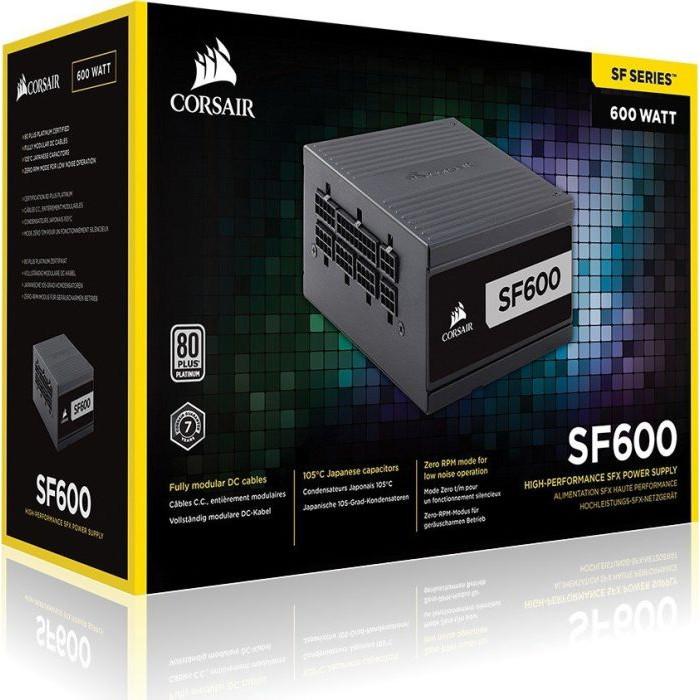 من كورسير SF600 600W Platinum SFX مزود الطاقة