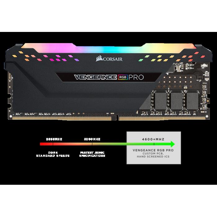 3200 16x2 Vengeance RGB ذاكرة  أسود | كورسير