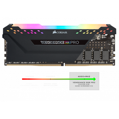 3200 8x2 Vengeance RGB ذاكرة   أسود | كورسير