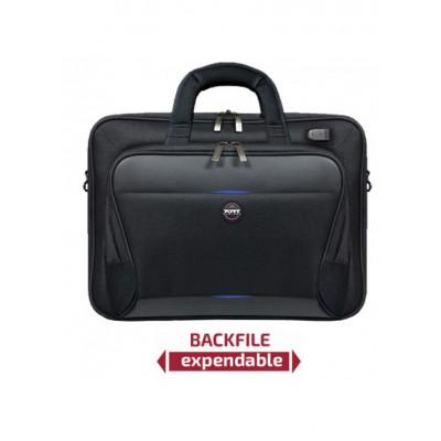 حقيبة شيكاغو من بورت ديزاين مقاس 13 إلى 15.6 بوصة - أسود