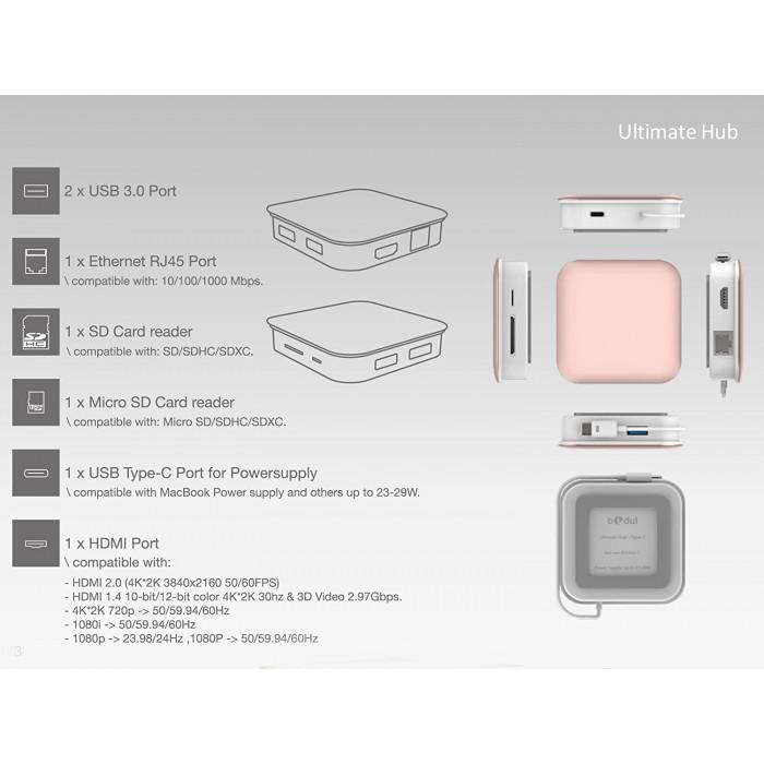 بيدول - Ultimate HUB USB-C