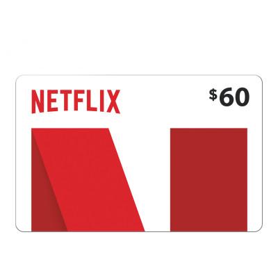 بطاقة نتفلكس  US Store $60  ( السعر شامل ضريبة القيمة المضافة | التوصيل اون لاين )