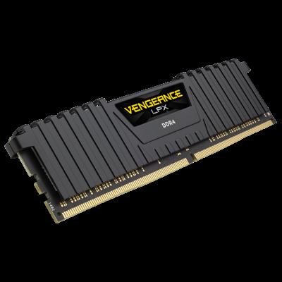 ذاكرة VENGEANCE® LPX 8GB (1 x 8GB) DDR4 DRAM 3000MHz C16 Memory Kit  أسود | كورسير