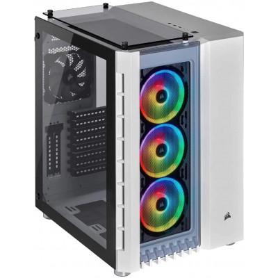 صندوق الكمبيوتر الذكي Crystal 680X RGB ATX TG  من كورسير باللون الأبيض