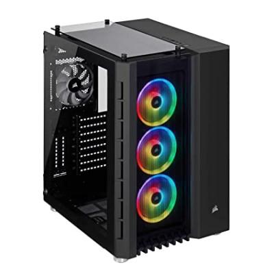 صندوق الكمبيوتر الذكي Crystal 680X RGB ATX TG  من كورسير باللون الأسود