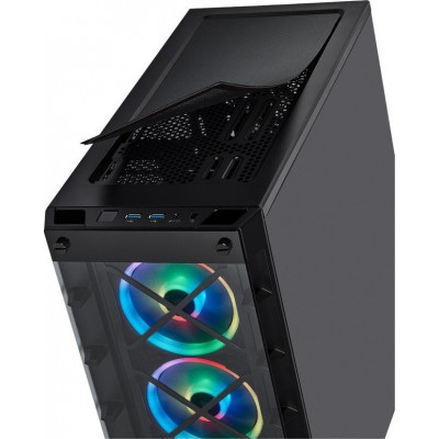 صندوق الكمبيوتر الذكي iCUE 465X RGB Mid-Tower ATX أسود من كورسير